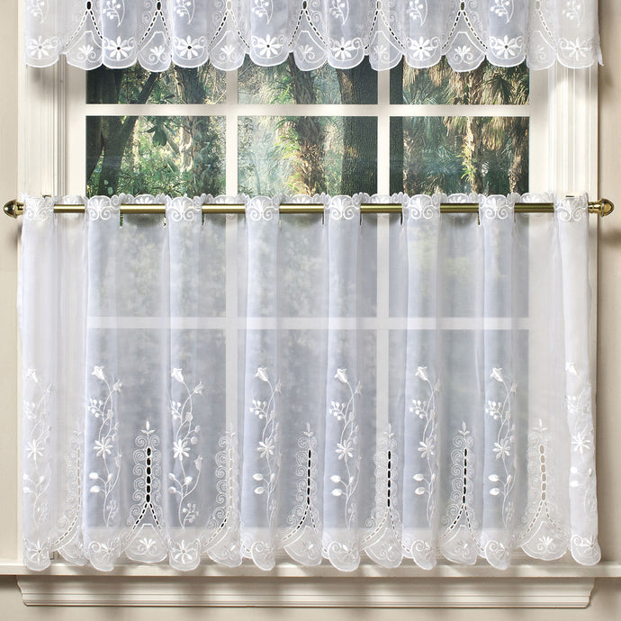 White tier curtains