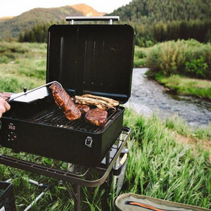 Traeger Ranger Pellet Grill TFT18KLD in use outdoors