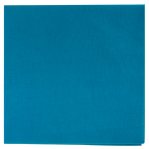 Turquoise solid color bandana