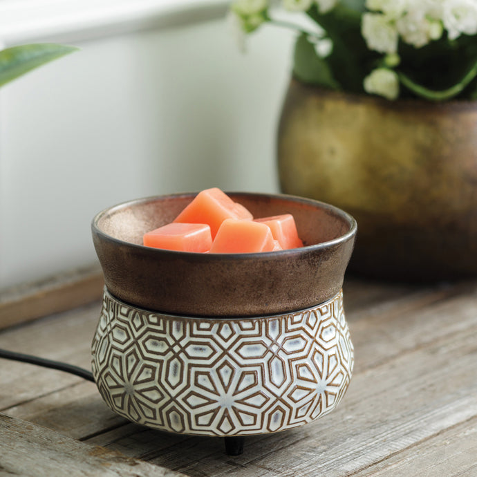 Bronze Geometric 2-in-1 Classic Wax Warmer CWDGEO