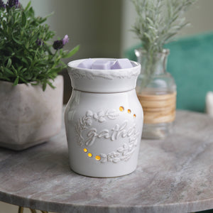 Gather White Wax Warmer RWGAT