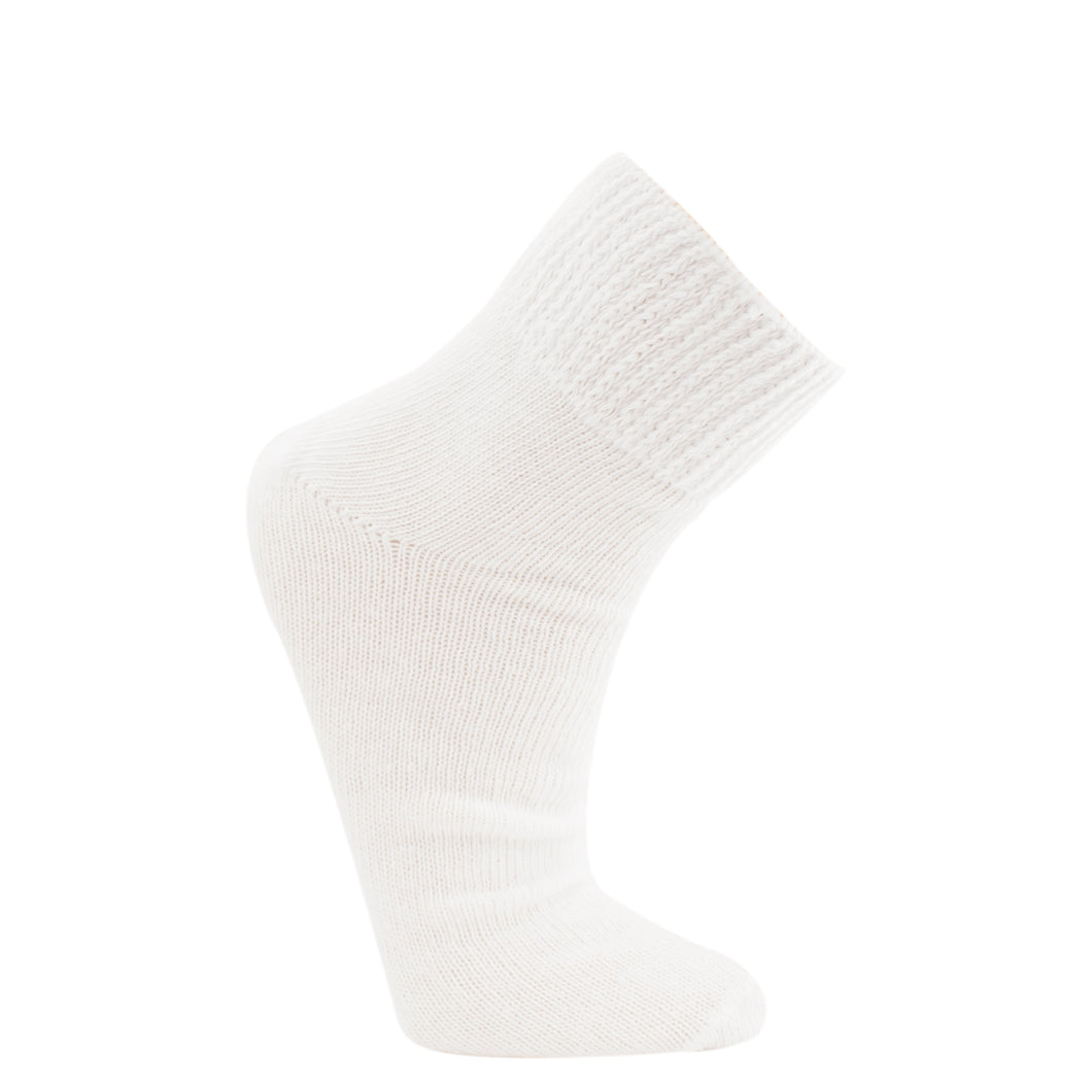 White ankle length sock