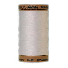 White cotton machine quilting thread