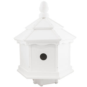 White Hexagon Birdhouse