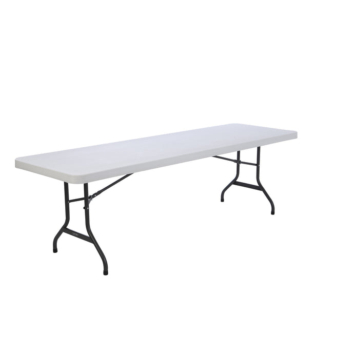 White 8-foot folding table