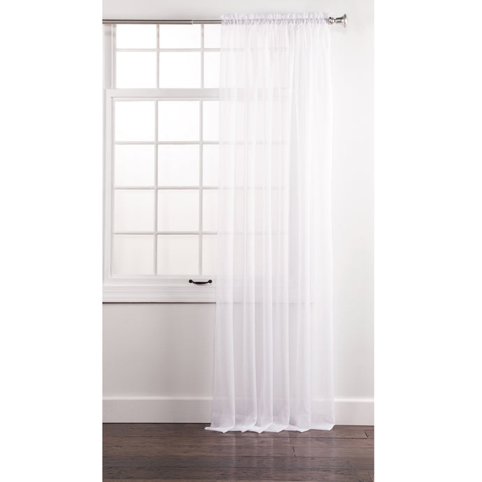 Curtains White Sheer Panel.