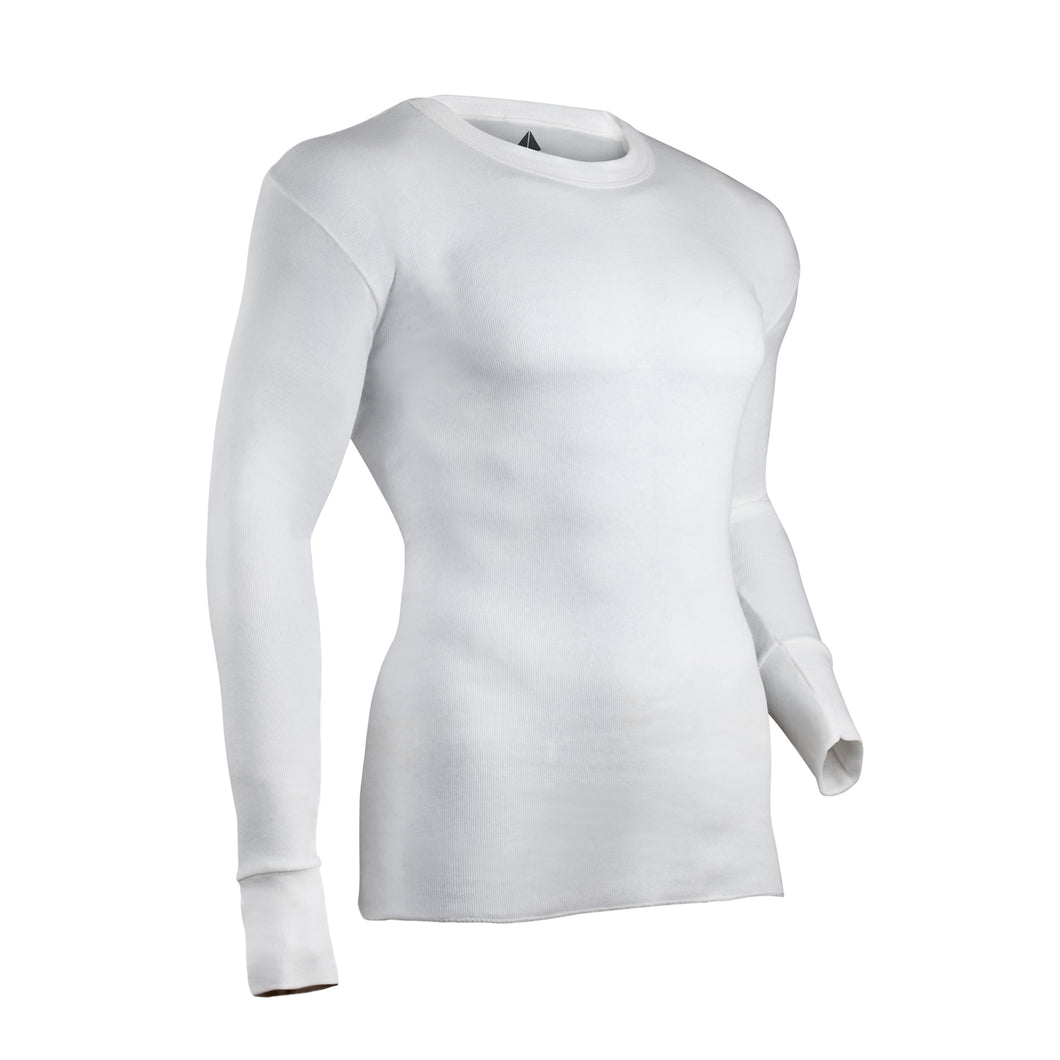 White thermal undershirt