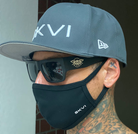SKVI Black-White Face Mask