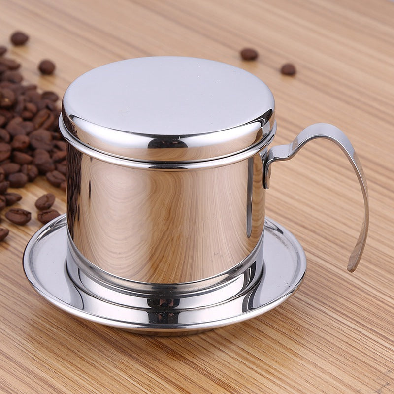 Stainless Steel Vietnamese Style Coffee Drip Pot Filter Tea Coffee Make Infuser Filters Cup