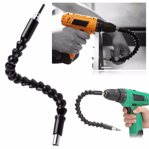 "12""/300MM Flexible Extention Screwdriver Drill Bit Holder with Magnetic Quick Connect Drive Shaft Tip 1/4"" Hex Shank"