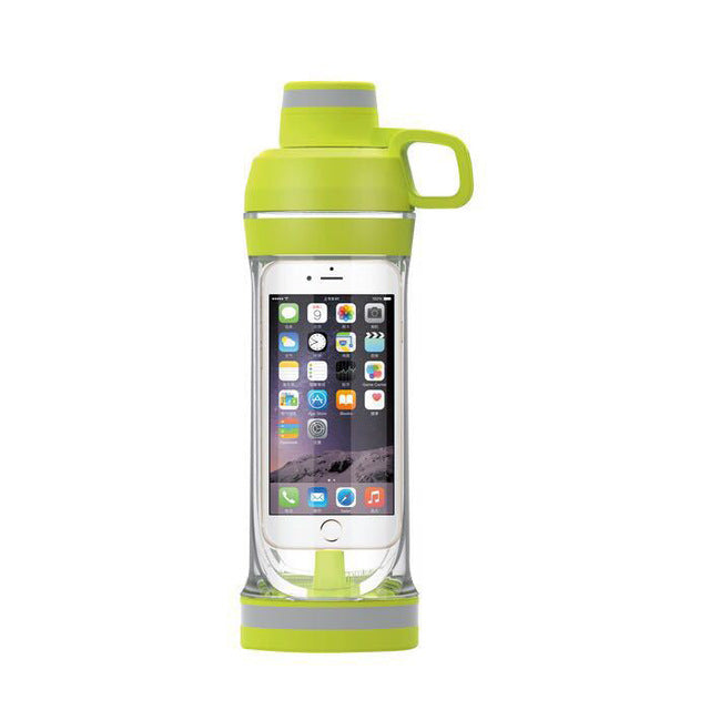 Storage Water Bottle For Iphone Mobile Phone Organizer Drinking Bottles For Water Plastic Leak Proof