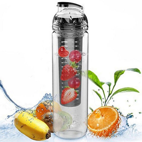 Fashion Water Bottle Sports Aquarius Bicycle Health Fruit Tea Infuser Water Bottle Juice Make