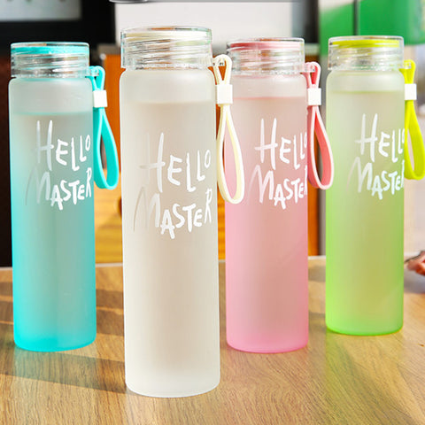 Water Bottle Water Drinking Bottle Fashion Multi Color Popular Glass Water Bottle With Lid Free BP