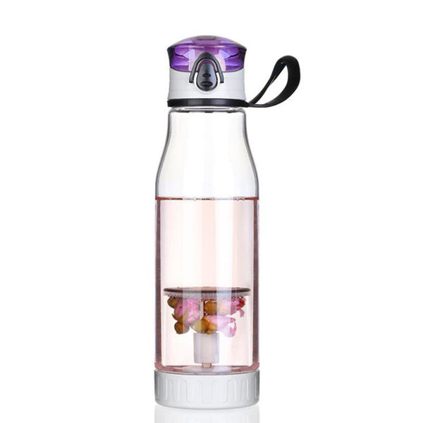 Hoomall Creative Plastic Sports Water Bottler with Tea Fruit Infuser Portable BPA-Free My Lemon Juice Drink Bottles 700ml Sports