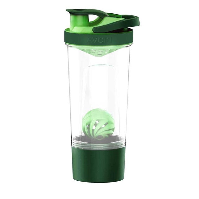 Protein Shaker Bottle With Mix Ball&Storage Mixer Sport Water Bottle Jar Whey Blender Fitness Gym