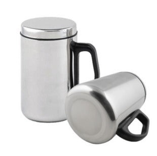 Double Wall  Tea Cup Mug Set Coffee Water Hot Vacuum Bottle With Lid Stainless Steel