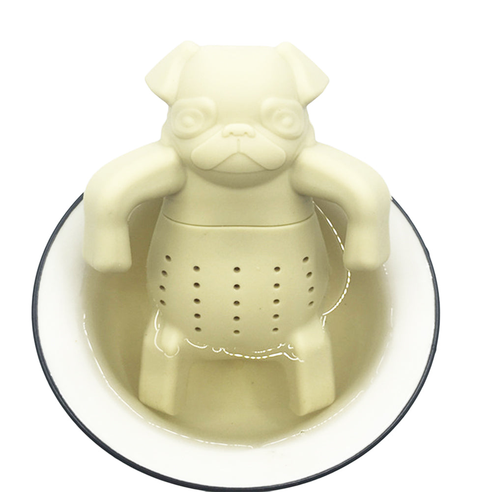 Angry Pug Tea Infuser Grade Silicone Loose Leaf Herbal Tea Strainer Spice Holder Tea Brewing Tool