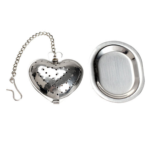 Silver Stainless Mesh Herbal Ball Tea Strainer Teakettle Locking Tea Filter Infuser Spice