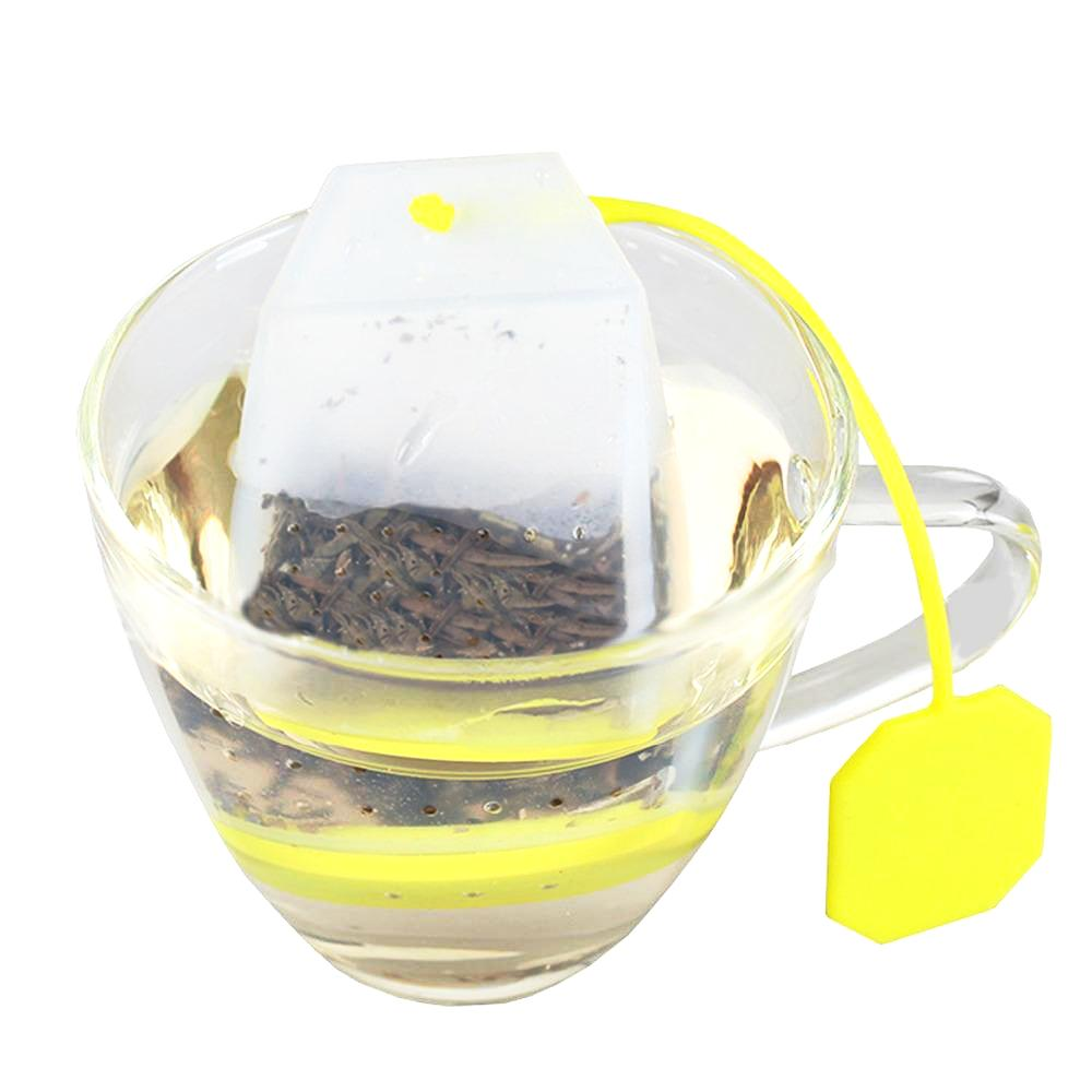 Square Silicone Tea Infuser Loose Leaf Strainer Filter Makers For Loose Leaf Tea Fruit Tea
