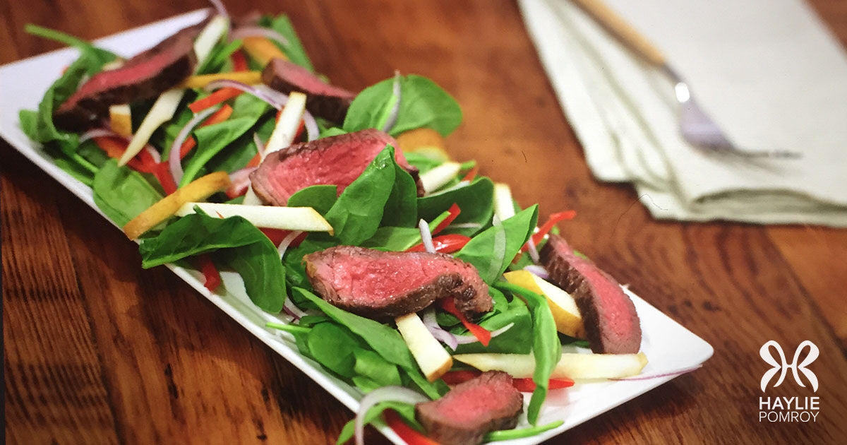 Burn Belly Fat and Balance Blood Sugars with this Food Rx: Steak and Spinach Salad