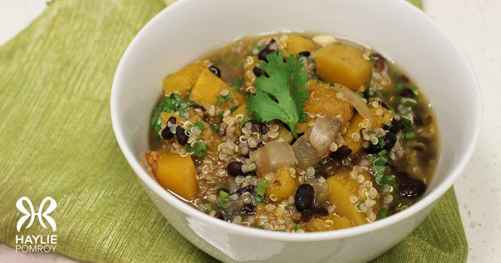 Black Bean Butternut & Quinoa Stew