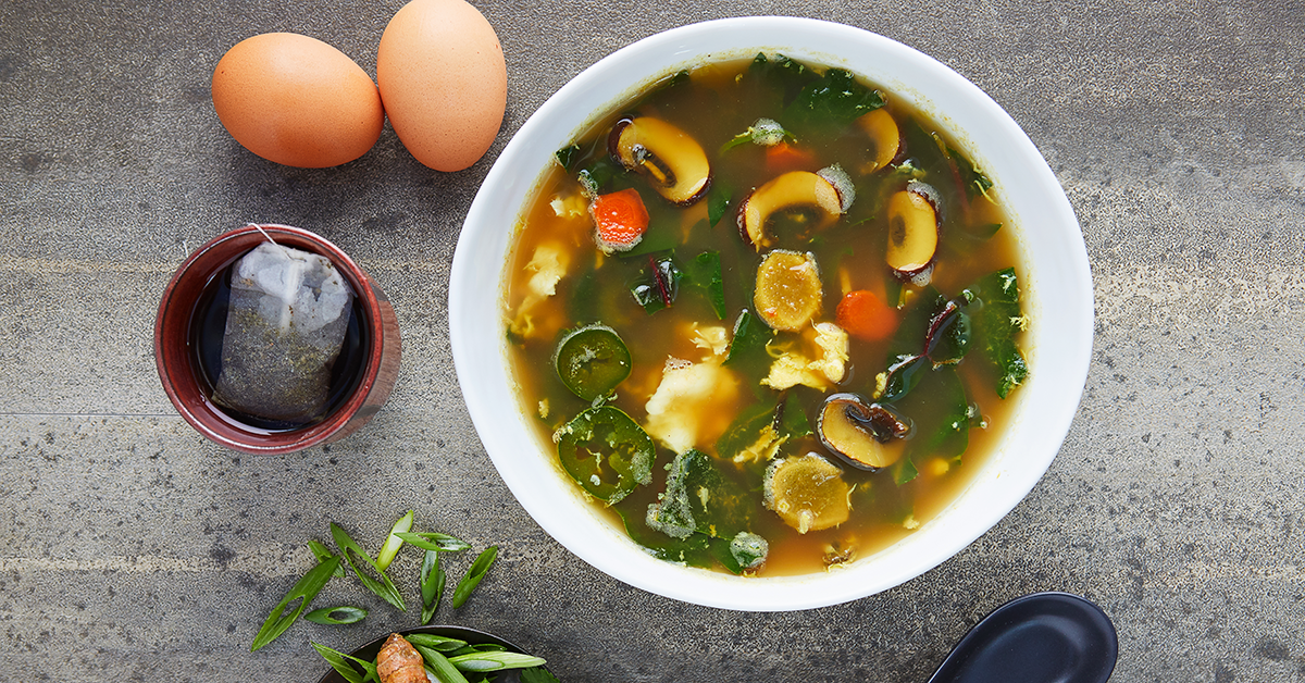 Egg Drop Soup by Haylie Pomroy from Cooking for a Fast Metabolism.