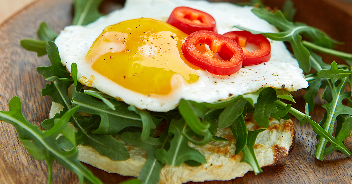 Jicama Toast with Egg from Haylie Pomroy's Cookbook Cooking For A Fast Metabolism