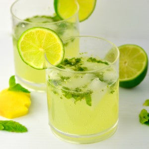 Mint and ginger mojito