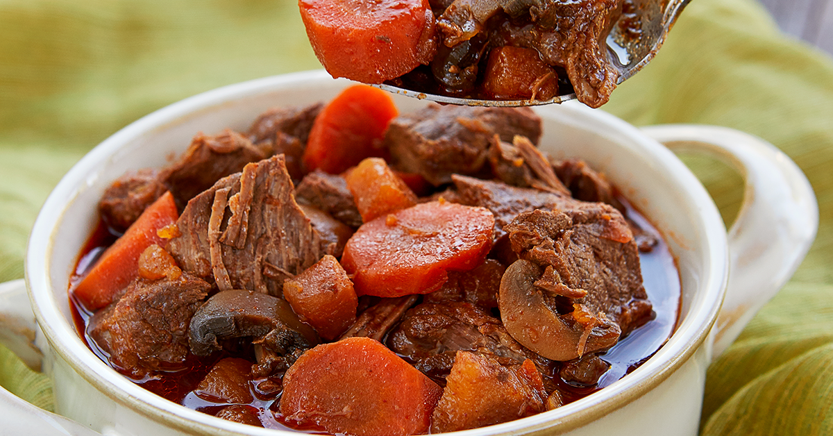 Close up of Haylie Pomroy's Slow Coker Hungarian Goulash