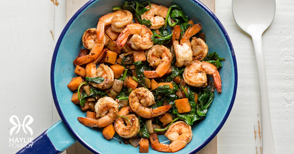 Sweet Potato-Shrimp Cooked Salad