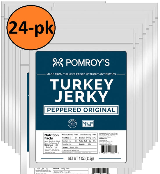 Pomroy's Turkey Jerky Peppered 24-Pack