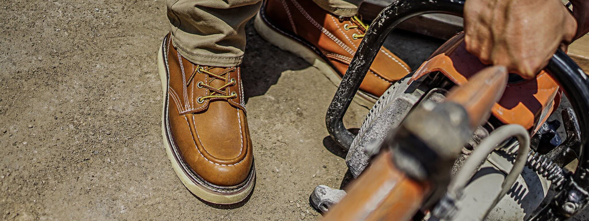 Leather Work boots for Men - construction Workboot