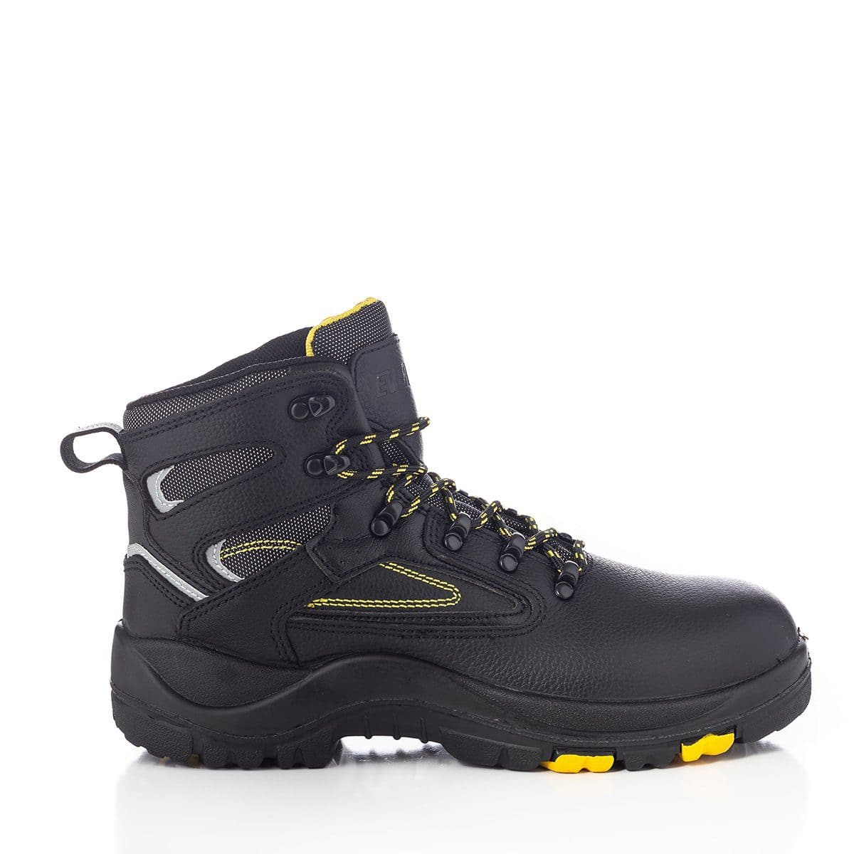 'PROTECTOR' Steel Toe 6' Work Boot Black