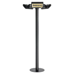 Solaira Malibu Series 4500 Watt, 240V Fixed Location Commercial Grade Infrared Electric Outdoor Patio Heater, Black