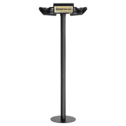 Solaira Malibu Series 6000 Watt, 240V Fixed Location Commercial Grade Infrared Electric Outdoor Patio Heater, Black