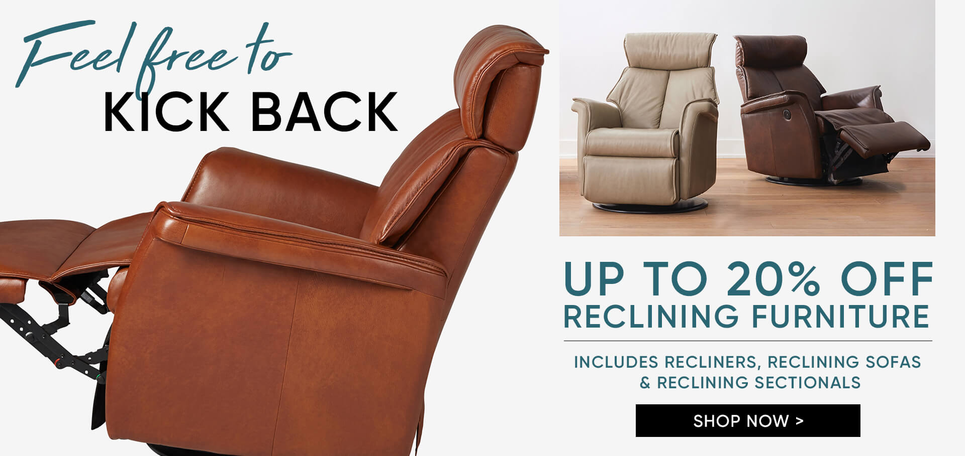 Up to 20% off Reclining Furniture