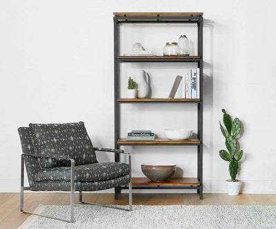 Karsten Bookcase Saddle Brown - Scandinavian Designs
