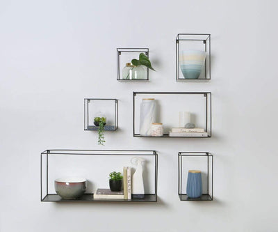 Catania Metal Shelves Black - Scandinavian Designs