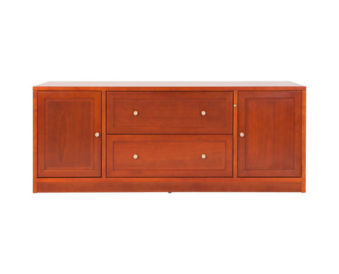 High quality crafted cherry wood credenza