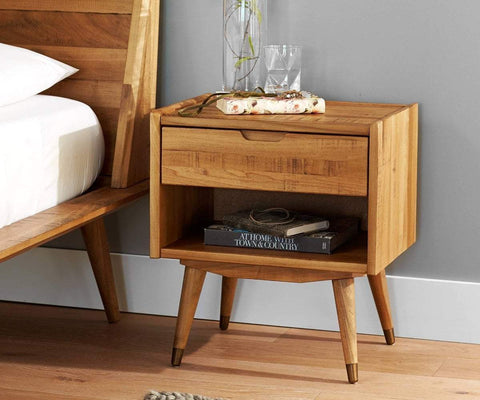 Traditional Scandinavian bedroom nightstand design