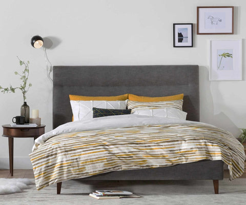 Tambur Bed GREY / QUEEN - Scandinavian Designs