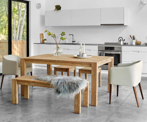 Contemporary rustic nordic style dining room design