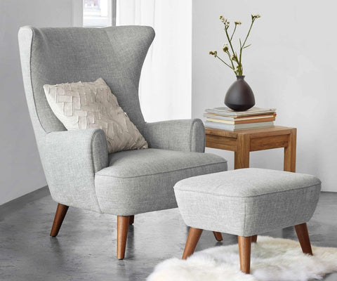 Katja High Back Chair   Grey   Scandinavian Designs