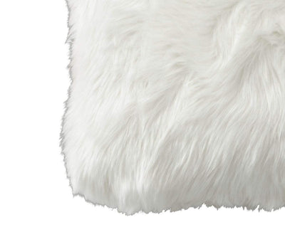 "Rorik 12"" x 18"" Faux Fur Pillow Cover - White White - Scandinavian Designs"