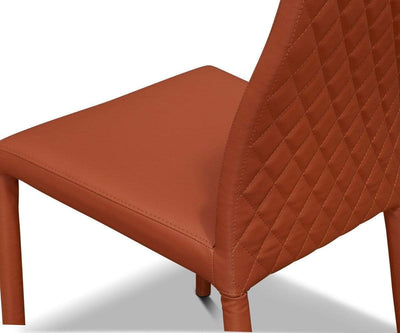 Evelina Quilted Dining Chair Cognac - Scandinavian Designs