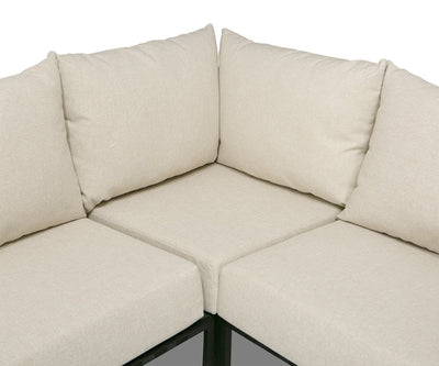 Da Costa 4-Piece Sectional Beige/Black - Scandinavian Designs