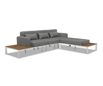 Capitola Sectional White/Grey - Scandinavian Designs