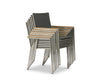 Farino Dining Chair Grey/Brushed Stainless Steel - Scandinavian Designs