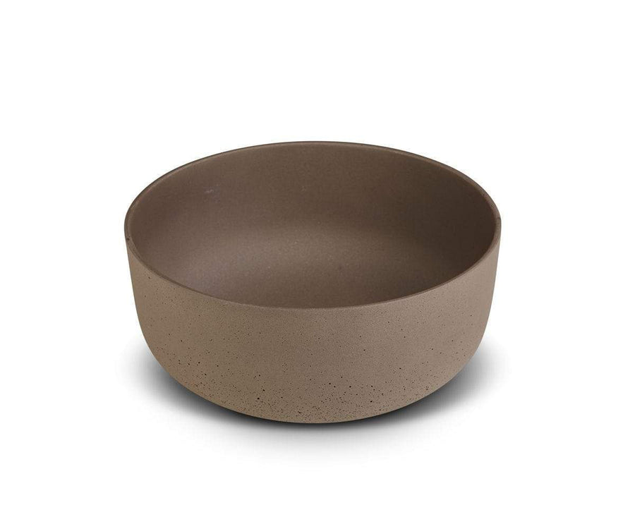 Matera Low Planter - Neutral Brown