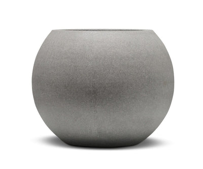 "Tulpan Round Planter Rough Cement / 14""Dia. - Scandinavian Designs"